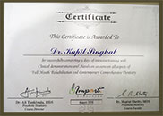 Implants Doctor Certificate